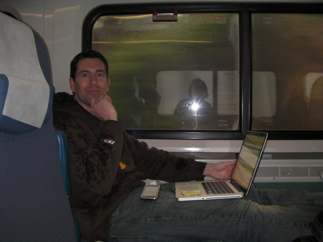 Relaxed at Work on the Train